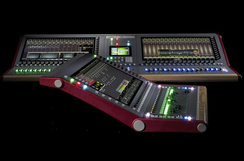 CDC five (front) and CDC seven-s digital mixing consoles