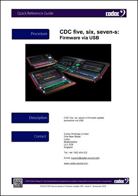 DOC02-CDC five-six-seven-s Firmware Update USB - Issue E - November 2018