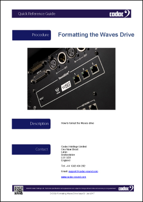 Formatting Waves Drive