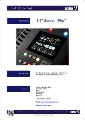 Console Screen Flip