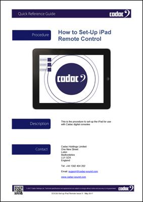Cadac CDC iPad Setup