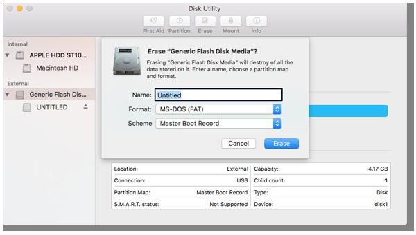 Waves USB key formatting